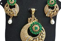 Latest Bollywood Designer Wedding Party Beautiful Pendant Set