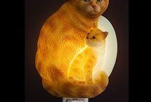 Cat Lamps/Night Lights