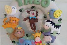 Quarto e Festa Safari / Quarto de criança/Bebê e decorações de festa no tema Safari