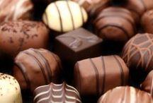 bombones con chocolate
