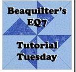 Beaquilter EQ7 tutorial Tuesday