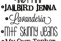 Scrap Fonts / by Carla Cooper