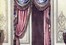 tarihi kapı ve perdeler