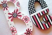 letras / Letras de madera para decoración