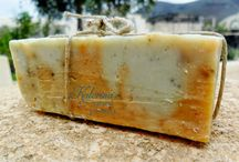 My Soap with green clay, turmeric and mint / My handmade Natural Soaps