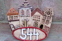 keramika domečky,znamení