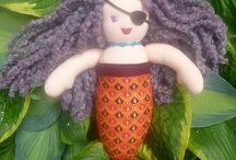 Fiber arts inspired by the sea / Here are a number a my sea inspired crafts and art.  You will find wool felt fish of the West Coast, Waldorf style mermaid dolls, starfish ornaments, keychains, fish mobile, cards, and Native art wall hangings.