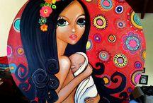 cuadros mujer