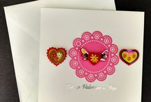 Creations made by Cards n More Valentines / All cards are handmade one of a kind, come with a envelope and plastic sleeve to protect the card.