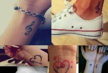 Music tattoo's / All kinds of Music tattoo's