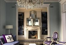 Rosedale Living Room / Chic living room using unexpected combinations of colours and textures.