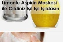 limonlu aspirin maskesi