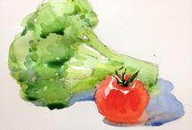 Vegetable paintings
