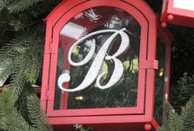 Crystal Monogram Love Letters for the holidays / After your wedding why not incorporate your crystallized monogram or cake topper into your holiday decor.