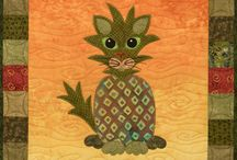 Cats / Cats, quilts, applique, Kitty, Vegetables, Garden Patch Cats, fun cats