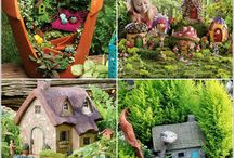 fairy garden's / so my partner and I want to make a wee fairy garden for our two girlies so these are just some idea's we like.