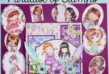 carte Dt Paradise of stamps / blog challenge