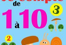 Compter en maternelle / Ce tableau permet de faire un petit livre pour apprendre à compter à des petits enfants de maternelle. Et bien sûr d'autres activités autour des nombres.