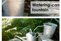 watering cans fountain