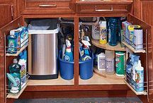 organize {cleaning supplies}