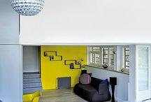 Projet - *de Trez* / Créations d'ambiances murales pour 4 espaces de vie d'une maison unifamilaie.