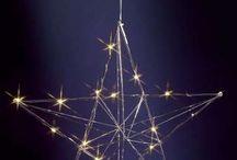 Sterne für die Weihnachtsdeko / Weihnachtssterne, Glitzersterne, beleuchtete Sterne, Christsterne, Stern-Lampen uvm.