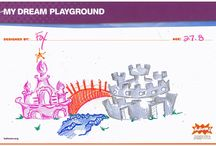 WWE & KaBOOM! Pin to Win Contest / WWE is giving away 30 T-shirts in honor of the WWE KaBoom! Playground Build during WrestleMania week! We asked your favorite Superstars to get creative and draw their dream playground. Pin one of the below Superstar drawings from our board below for the chance to win. Plus, don't be shy! Draw your own dream playground and add it to WWE's pin board to demonstrate your support. Visit http://woobox.com/98mwqz to enter!  / by WWE