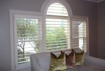 AWF | Unusual and Unique Shutters / Unusual or unique ways in which Austin Window Fashions has used our custom made plantation shutters to cover problematic window configurations.