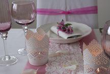 Naše dekorácie svadobných stolov