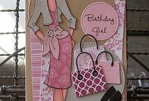 Cards  Prima doll stamps