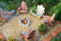 Fire pit and porch ideas / by Kimberly Traynum