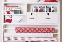 Wrapping stations / Keep wrap tidy and on the ready for gorgeous wrapped gifts