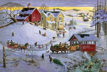 Winter Wonderland / Let it snow!! Winter is such a beautiful season when the snow falls over the earth like a blanket <3 Discover beautiful scenic winter art at http://www.fulcrumgallery.com/c32421/winter-wonderland-art.htm