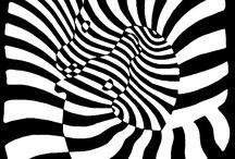Victor Vasarely / Considerado como el padre del op art Vasarely desarrolló un modelo propio de arte abstracto geométrico, con efectos ópticos de movimiento, ambigüedad de formas y perspectivas, e imágenes inestables.