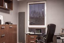 Gabinet w mieszkaniu / Aranżacja wnętrza gabinetu w mieszkaniu.
