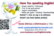 English in Lleida / A board for my fun English conversation groups in Lleida
