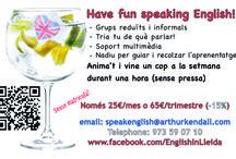 English in Lleida / A board for my fun English conversation groups in Lleida