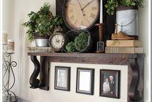 Mantelpiece shelves
