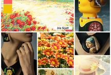 Moodboards inspired by art