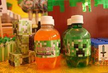 Aniversário Arthur - Minecraft / Ideias para festa de Mineraft