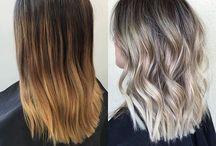 Skulderlangt hår