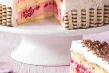 himbeer torte mit sahne
