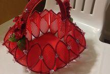 cestas de plastico de cuadraditos