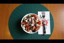Greek salad. Salată grecească. Греческий салат. / Ingredients: Greece cheese-100g, 8 tomatoes cherry, black olive-100g, Romanian nuts, olive oil, salt and basilic.  Ingrediente: brânză Feta-100g, 8 roșii cherry, măsline negre-100g, nuci, ulei de măsline, sare și busuioc. Ингредиенты: брынза-100г, помидоры черри-8шт, маслины чёрные-100г, орехи, масло оливковое, соль, базилик.