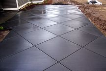 Concrete / Stamped, exposed or brushed.