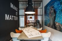 Office inspiration - futuSthlm / Bits and pieces to get the mind going.  Think green, think big.