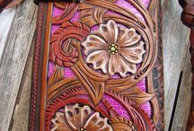 Tooled Leather / Beautiful examples of tooled leather.