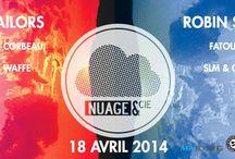 AFFICHES SOIREES / Affiches et flyers des différentes soirées de Nuage&Cie !!