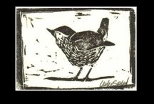 Linocut Prints /  Reflections on rural life are celebrated in these finely carved linocut prints.