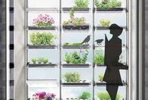 Planting Shutters - живые жалюзи. / Концепция жалюзи из живых растений цветов - ламели с отверстиями для цветочных горшков, которые закрепляются между вертикальными стойками.
